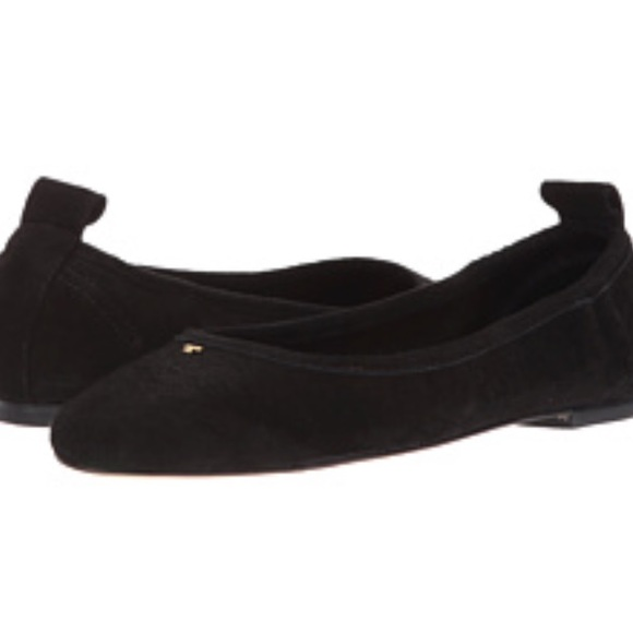 07147a59f06 NWT Tory Burch Therese Black Suede Ballet Flats